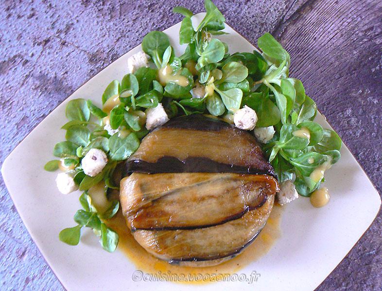 VOOZENOO-Charlotte aux aubergines, tomates et ricotta